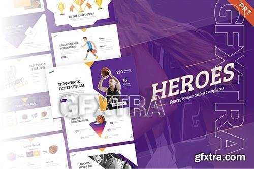 Heroes Creative Animated Sport PowerPoint Template 38CFJYL