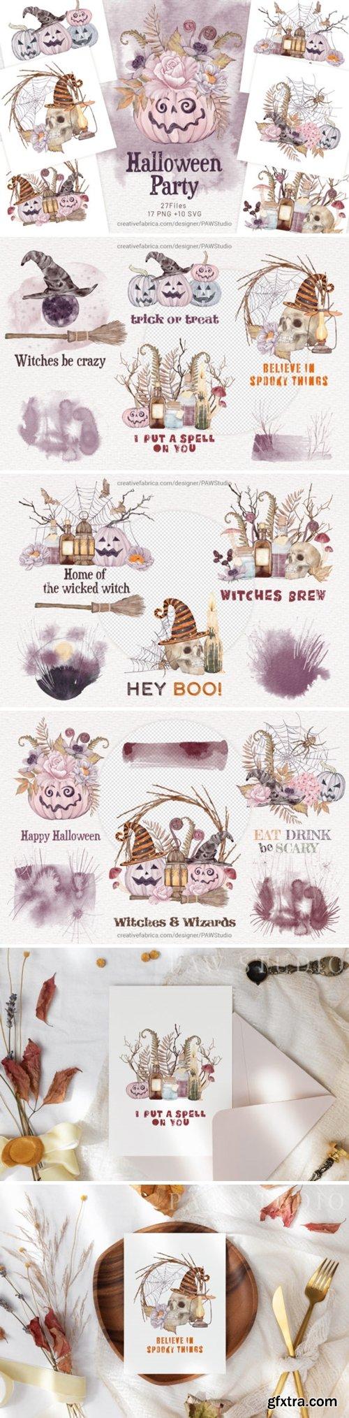 Halloween Cards Pumpkins Fall Flowers 16497798