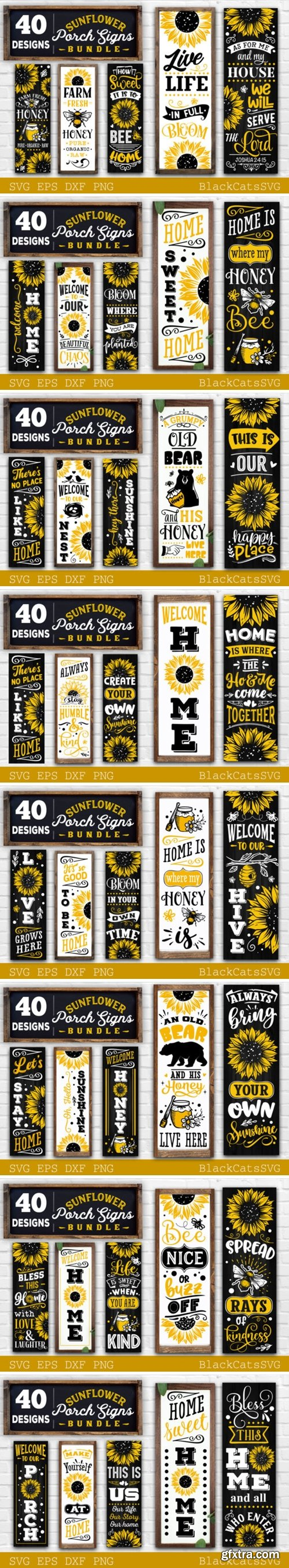 Sunflower Porch Signs SVG 12630010