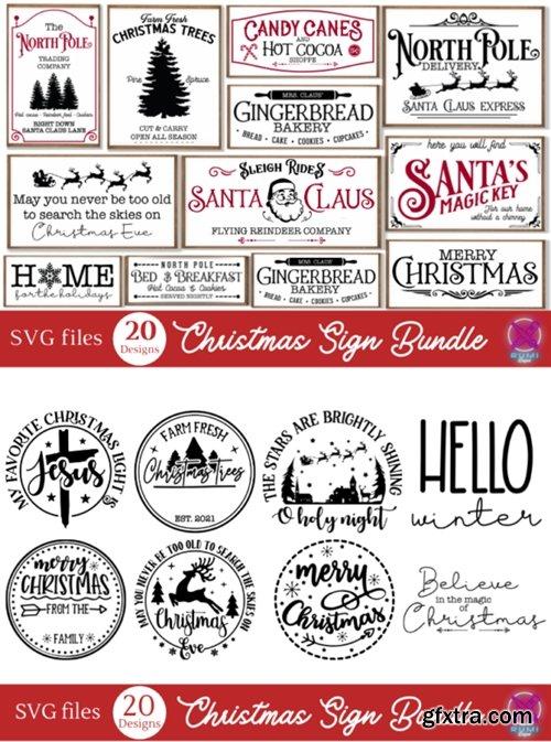 Christmas Farmhouse Sign Bundle 15923906