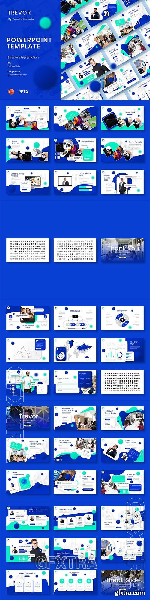 Trevor – Business Powerpoint, Keynote and Google Slides Template