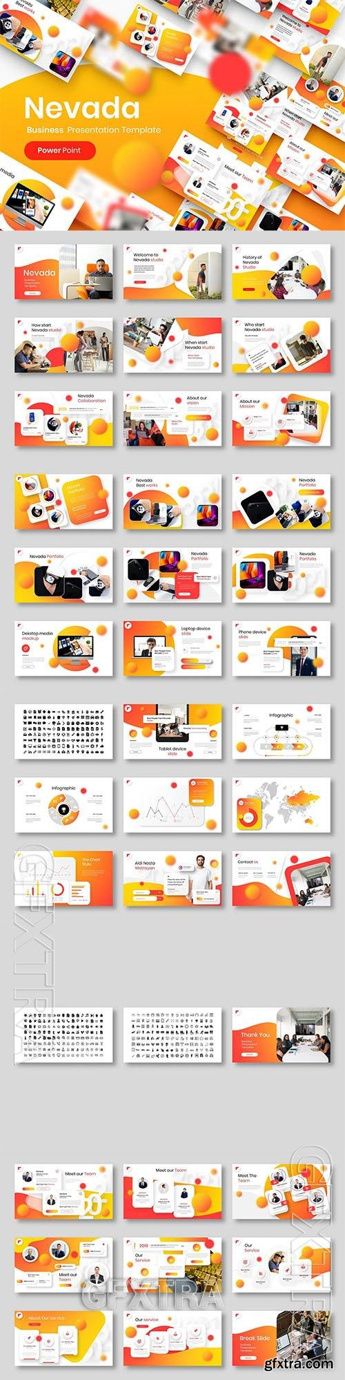 Nevada - Business Powerpoint, Keynote and Google Slides Template