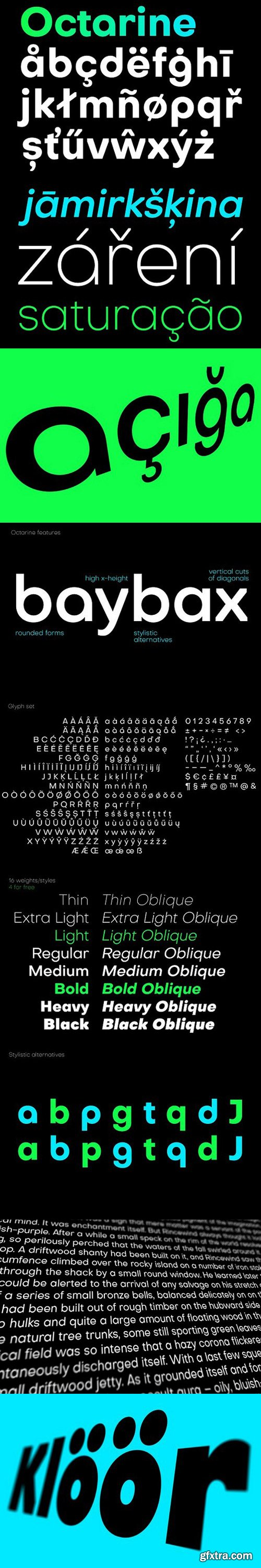 Octarine 16 fonts