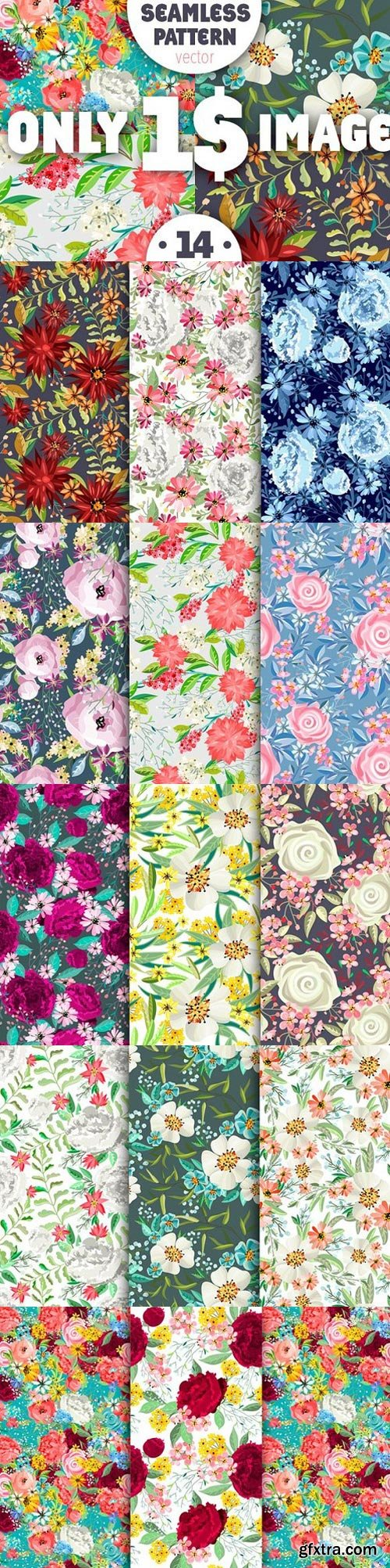 Pack of seamless patterns