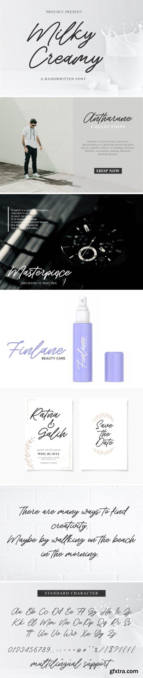 Milky Creamy Font