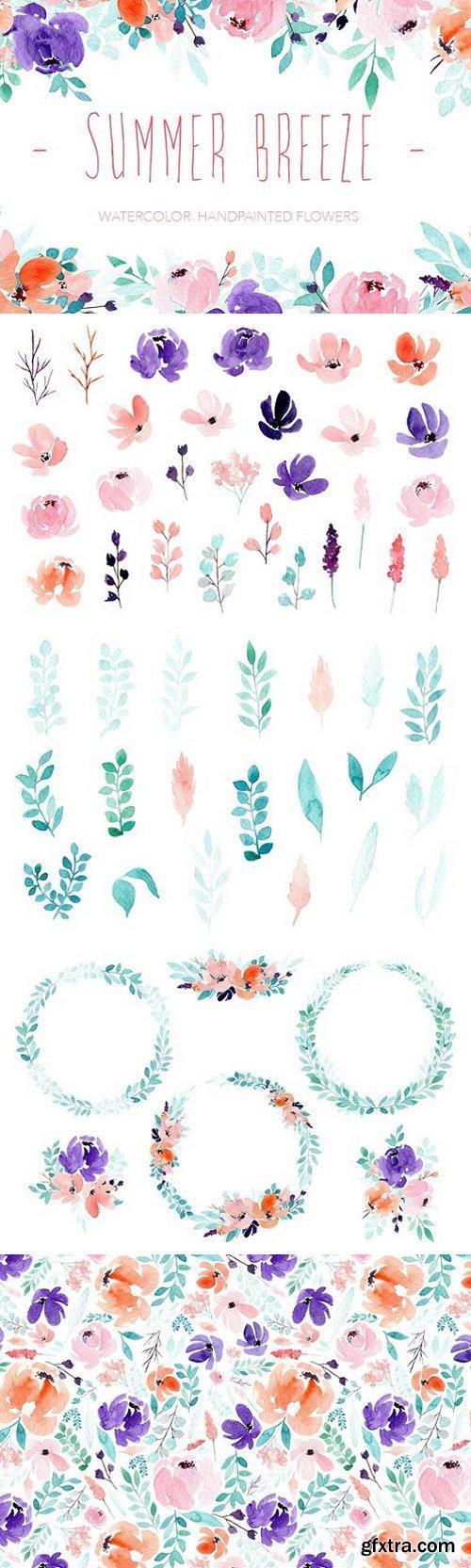 Summer Breeze - Watercolor flowers