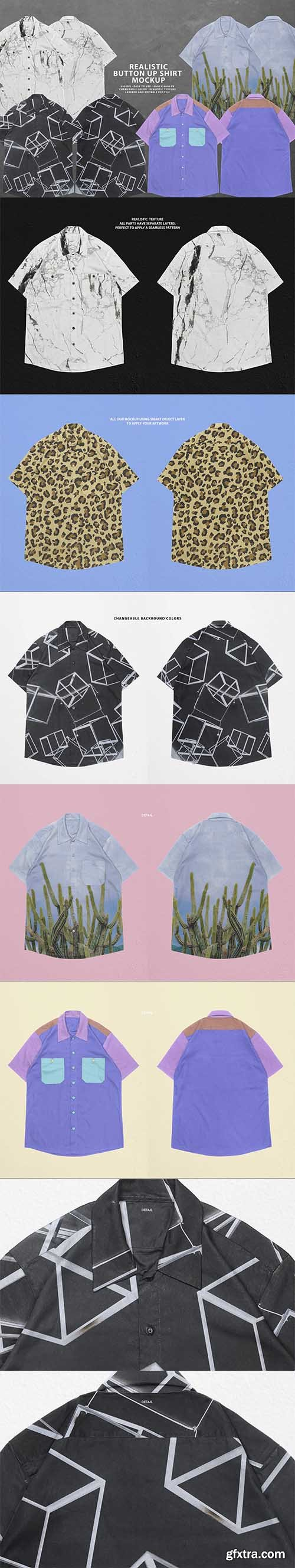 CreativeMarket - Realistic Button-Up Shirt Mockup 5931439