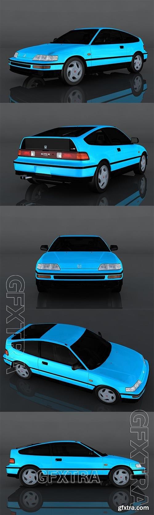 1991 Honda CRX 3D Model o93010