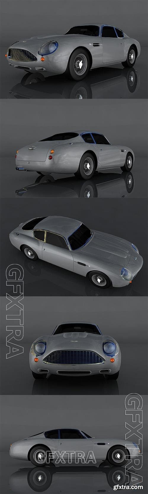 Aston Martin DB4 GT 3D Model o93560