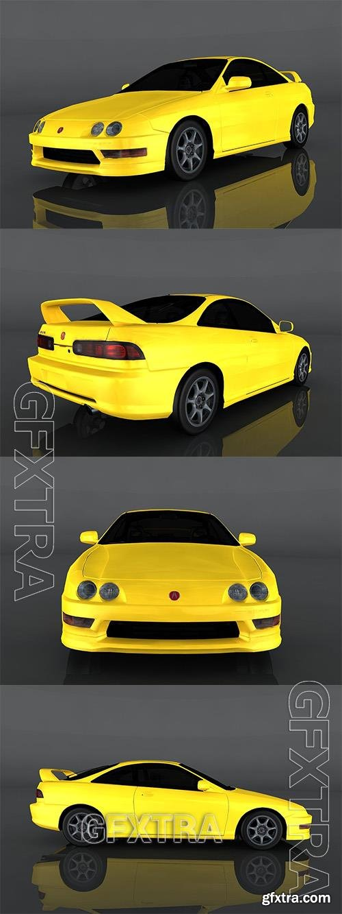 2001 Acura Integra Type 3d model Model o175639