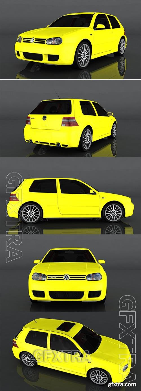 2003 Volkswagen Golf R32 3d model Model o175668