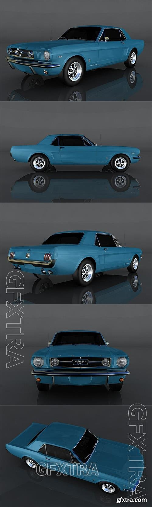 1965 Ford Mustang 3D Model o93561