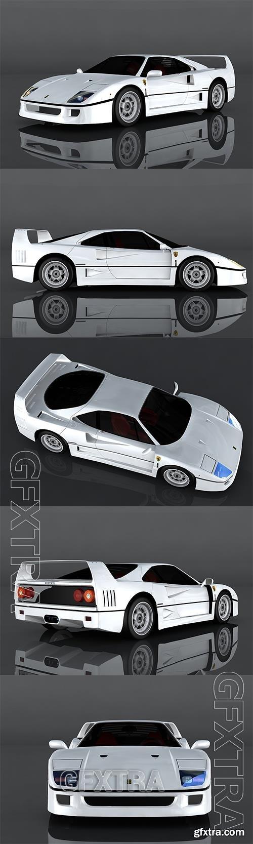 1987 Ferrari F40 3D Model o93224