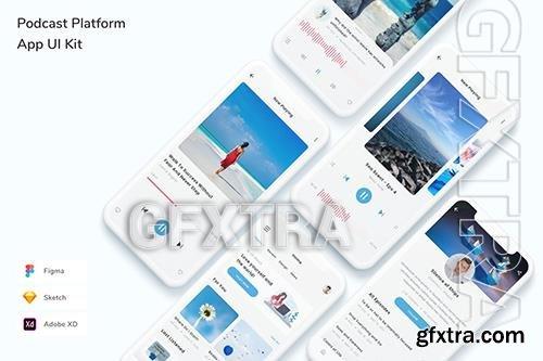 Podcast Platform App UI Kit 8YZ282T