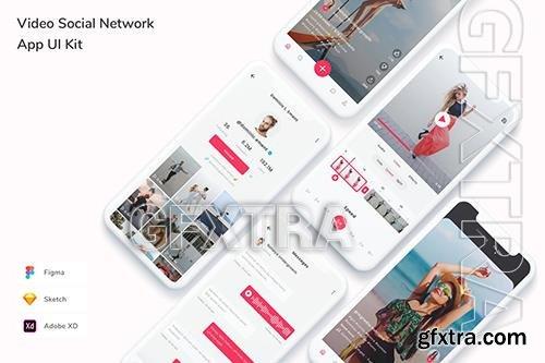 Video Social Network App UI Kit REDLQU8
