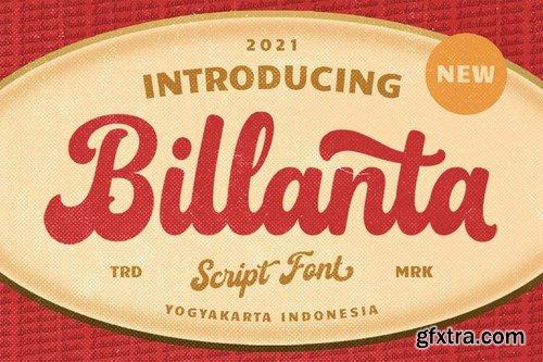 Billanta Font