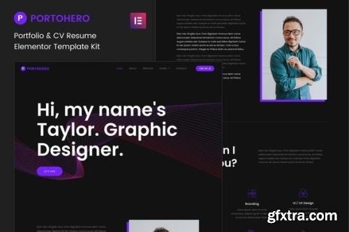 ThemeForest - Portohero v1.0.0 - Personal Portfolio & CV Elementor Template Kit - 33998724