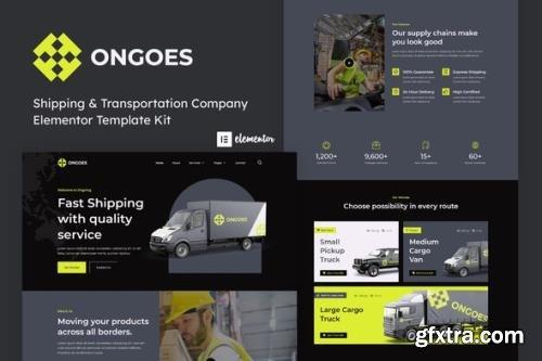 ThemeForest - Ongoes v1.0.0 - Shipping & Transportation Company Elementor Template Kit - 33979090