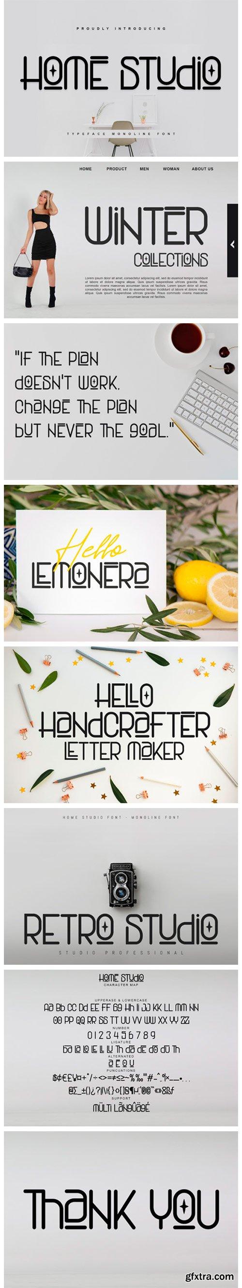 Home Studio Font