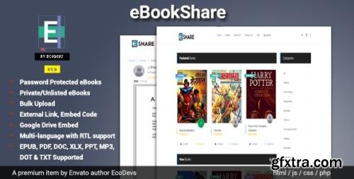CodeCanyon - eBookShare v1.9.5 - eBook hosting and sharing script - 23888795 - NULLED