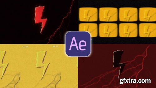 Motion Design 2d in After Effects: Lighting Animation/Effects/loop/