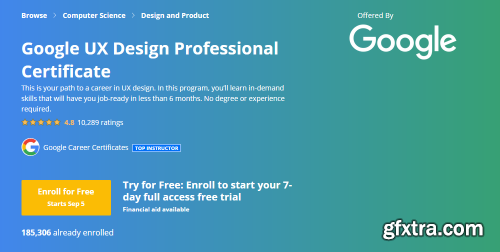 Coursera - Google UX Design Professional Certificate