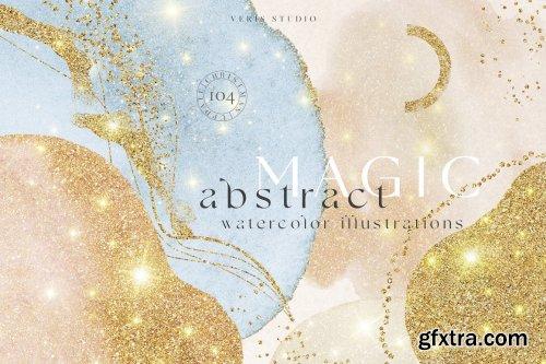 CreativeMarket - Magic Art Abstract Watercolor Shapes 5743646