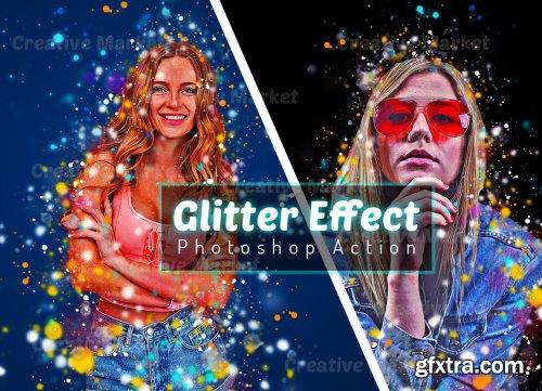CreativeMarket - Glitter Effect Photoshop Action 6493383
