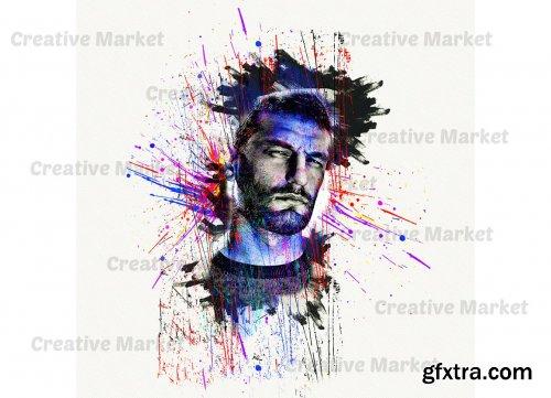 CreativeMarket - Face Portrait Photoshop Action 6495555