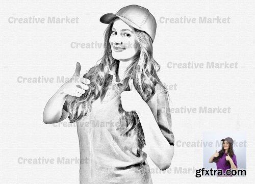 CreativeMarket - Sketch Pop Art PS Action 6497428