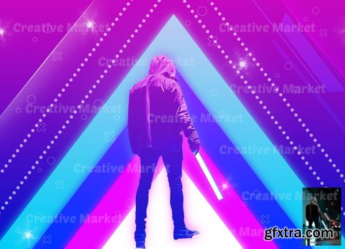 CreativeMarket - Neon Art Photoshop Action 6486009