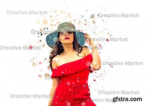 CreativeMarket - Paint Splatter Photoshop Action 6475081