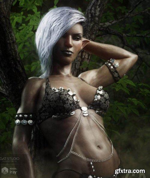 Dokkalfar the Dark Elf for Genesis 8 Female
