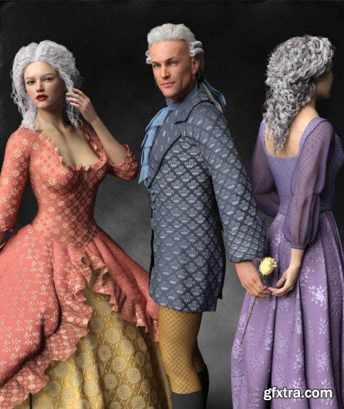 Regal Romance: Historical Pattern Iray Shader Presets