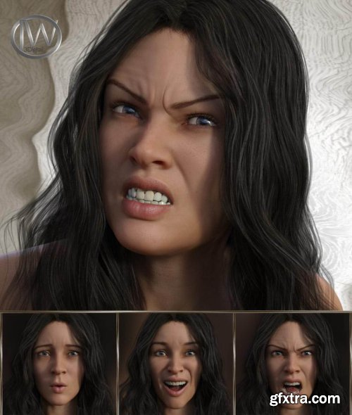 Beautiful Warrior – Expressions for Genesis 8 Female and Gia 8