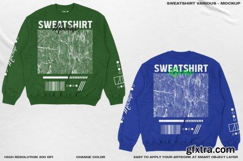 CreativeMarket - Sweatshirt Various - Mokcup 6463899