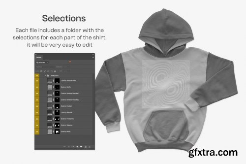 CreativeMarket - Gildan G18500B Youth Hooded Mockups 6459884