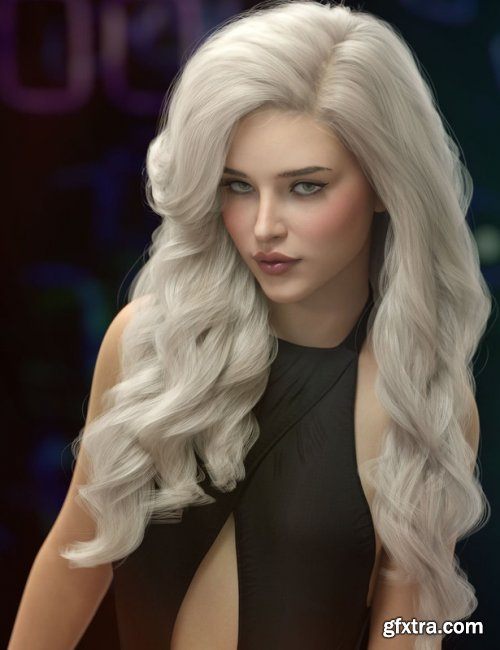 Ursula Hair for Genesis 3, 8, and 8.1 Females
