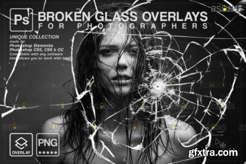 Broken Glass Photoshop Overlay.Halloween