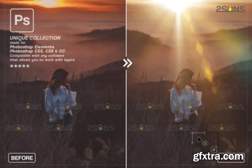 CreativeFabrica - Sunshine Overlays & Photoshop Overlay