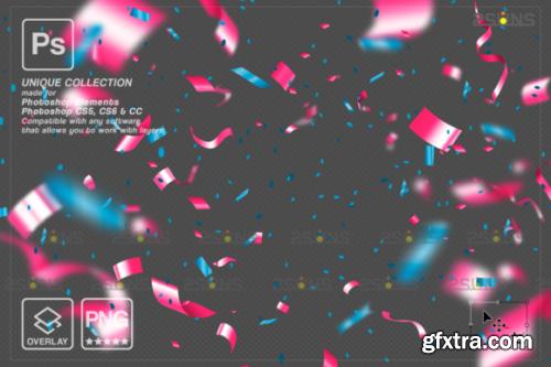 CreativeFabrica - Gender Reveal Confetti Overlay Photoshop