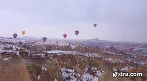 Aerial Of Hot-air Balloons In Cappadocia 1018961