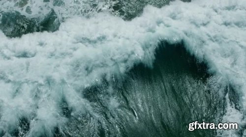 Drone Over Stormy Ocean Waves 751142