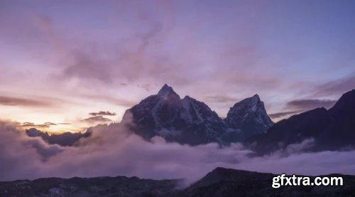 Taboche And Cholatse Mountains At Sunset 1000182