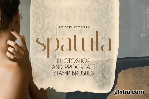 CreativeMarket - Spatula PS & Procreate Stamp Brushes 6425198