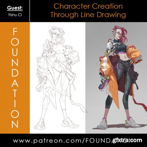 Foundation Patreon - Character Creation Through Line Drawing