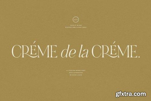 CreativeMarket - NOIR et BLANC Stylish Serif 5846906