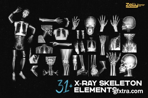 CreativeMarket - X-Ray Photo Effect & Elements 6219667