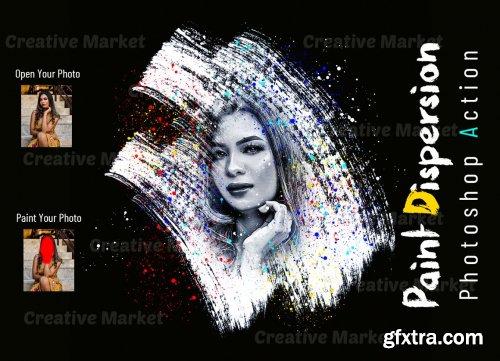 CreativeMarket - Paint Dispersion Photoshop Action 6525553