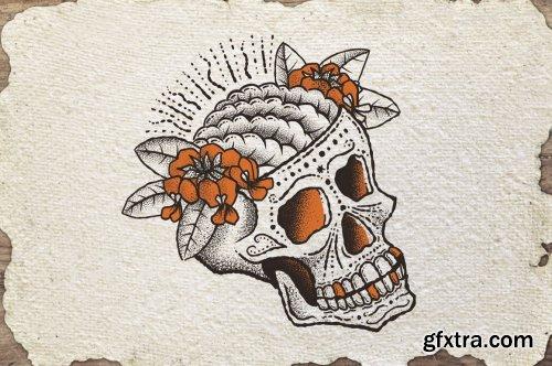 CreativeMarket - Tattoo Art Brushes - Procreate 4692079